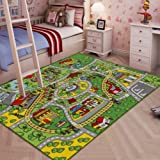 jackson large kid rug for toy cars safe and fun car rug with non