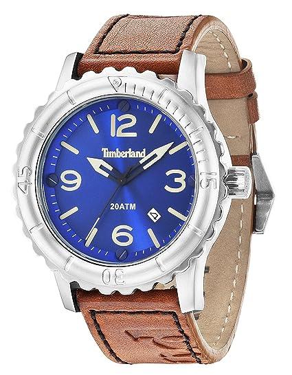 Timberland Reloj para Hombre de con Correa en Cuero 14324JS/03: Amazon.es: Relojes