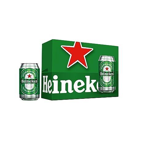 Heineken Cerveza - Pack de 12 Latas x 330 ml - Total: 3.96 L
