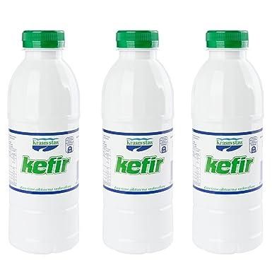 kefir drink. fresh, ready to drink probiotic kefir milk - 3x 500ml easier than grains