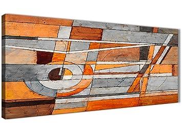Burnt Orange Grau Malerei Wohnzimmer Leinwand Bilder Zubehör ...