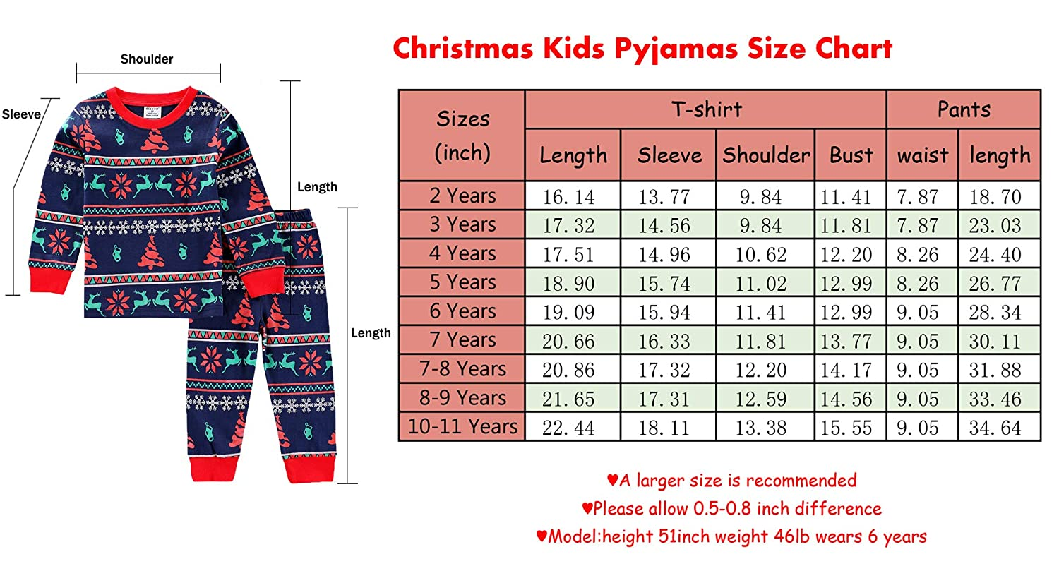 bb6f106c9496 Baby House Toddler Kid Boys Girls Christmas pajama T shirt+long pants  YSQA7471