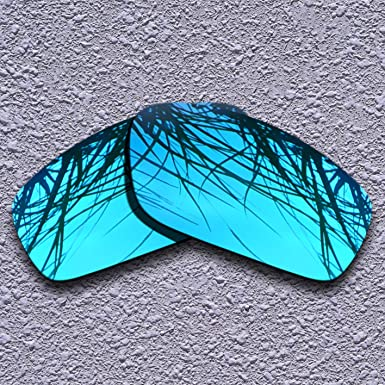3caa241efc5 Polarized Lenses Replacement for Oakley Splinter Blue Mirrored at Amazon  Men s Clothing store