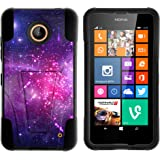 Nokia Lumia 635 Case, Nokia Lumia 630 Case, Durable Hybrid STRIKE Impact Kickstand Case with Art Pattern Designs for Nokia Lumia 635, 630 (AT&T, Sprint, T Mobile, Cricket, Virgin Mobile, Boost Mobile, MetroPCS) from MINITURTLE | Includes Clear Screen Protector and Stylus Pen - Heavenly Stars