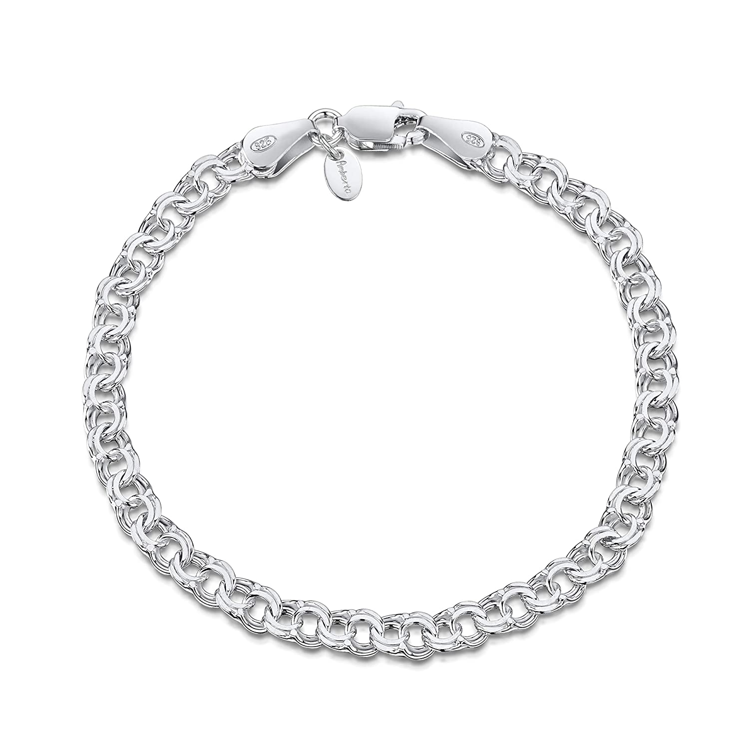 """Authentic .925 Sterling Silver Bracelet 8"""" Latest Fashion Fine Jewelry Jewelry & Watches"""