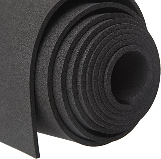 Amazon Com Magzo Sponge Neoprene Foam 1 8 Inch Thickness X 12 Inch Width X 4 9 Feet Length Rubber Sheets And Rolls Black Foam Roll Easy To Cut For Padding Diy Cosplay Gaskets Non Slip Toolbox