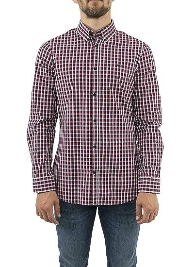 Guess Camisa Hombre Cuadros Slim fit (L): Amazon.es: Ropa y accesorios