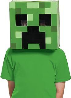 Disguise Minecraft CREEPR VACUFORM MASK  sc 1 st  Amazon.com & Amazon.com: JINX Minecraft Head Costume Mask Set (Steve and Creeper ...