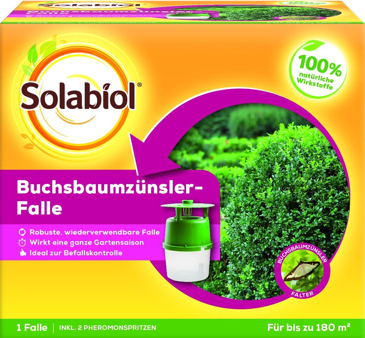 Solabiol Buchsbaumzünsler-Falle Insektenabwehr draußen, Farblos, 14 x 14 x 12 cm SBM Life Science GmbH 84506818