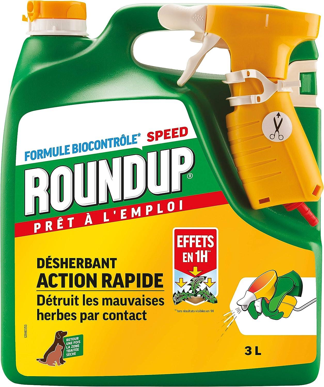 Roundup Désherbant Polyvalent Prêt à l'emploi, 3L: Amazon.fr: Jardin