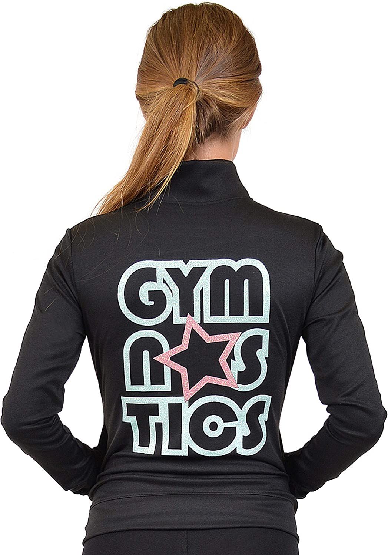 Stretch is Comfort Girls Glitter Gymnastics Jacket