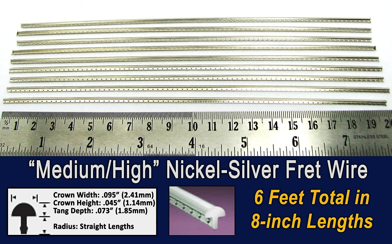 Guitar Fret Wire - Medium/High Gauge Nickel-Silver - Six Feet C. B. Gitty Crafter Supply 10806616