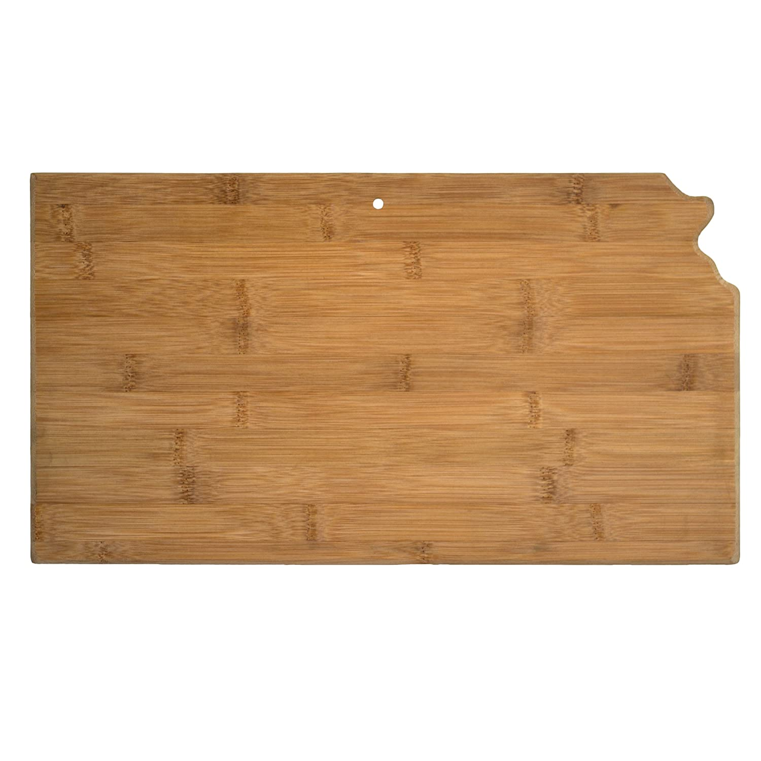 Totally Bamboo 20-7968KS Kansas State Shaped Bamboo Serving & Cutting Board