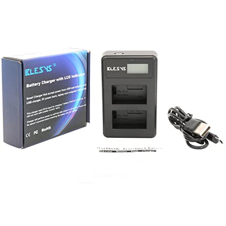 BLESYS USB Dual-Channel Sony NP-FW50 Cargador de batería de ...