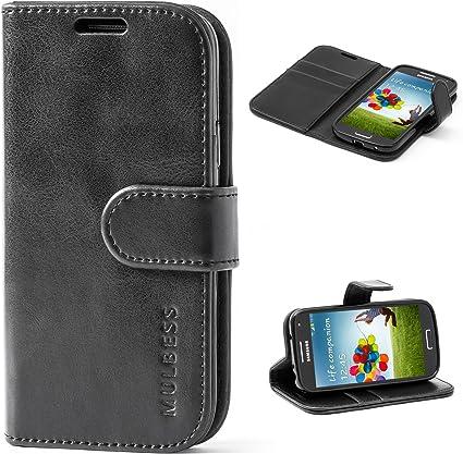 Mulbess Funda Samsung Galaxy S4 Mini [Libro Caso Cubierta] [Vintage de Billetera Cuero] con Tapa Magnética Carcasa para Samsung Galaxy S4 Mini Case, Negro: Amazon.es: Electrónica