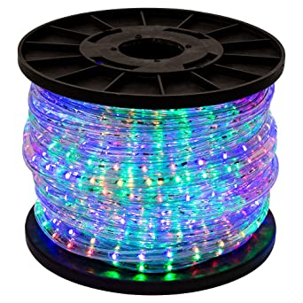 Amazon gothobby 150 rgb multi color 2 wire 110v led rope gothobby 150 rgb multi color 2 wire 110v led rope light home outdoor christmas aloadofball Gallery
