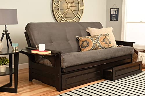 Kodiak Furniture Phoenix Futon, Suede Gray