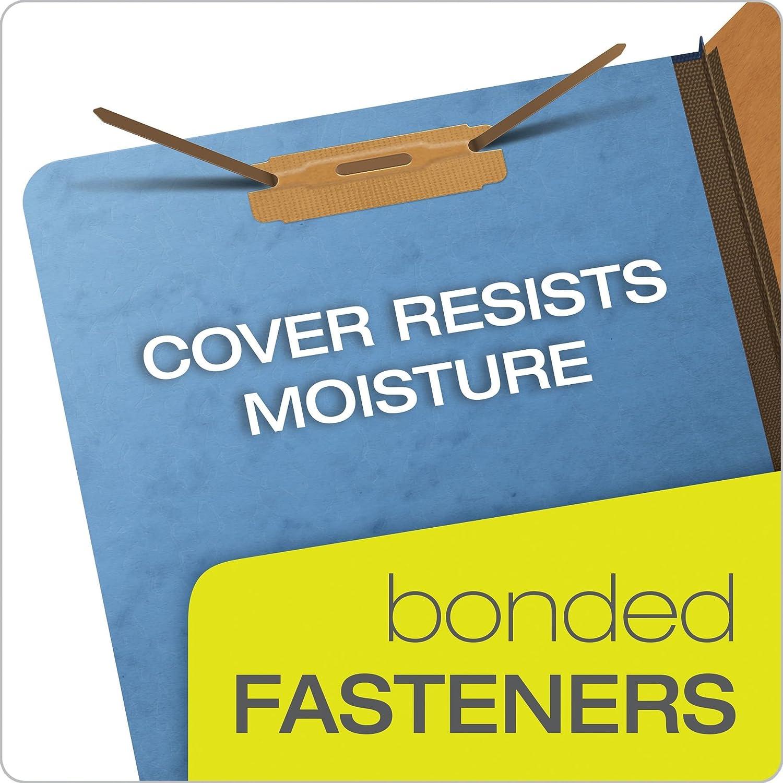 Pendaflex Top-Tab Pressboard Classification Folders 10 Per Box Legal Size 2//5 Cut Blue 2257BL 2 Dividers