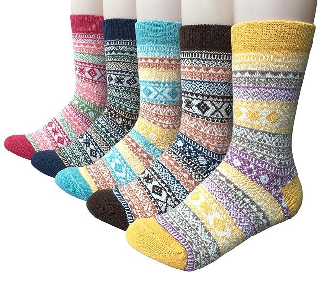 Vellette Calcetines termicos ricos en algodon para Muje-Ideales para invierno EU 35-40