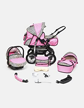 KAREX Kamil - Cochecito de bebé, sillita cochecito Version Promenade sistema 3en1 ruedas hinchables, protección lluvia, mosquitera - color 36: Amazon.es: ...
