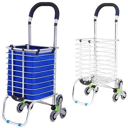 bb9534d7f91b Amazon.com : Keland Folding Shopping Cart, 6 Wheels Collapsible ...