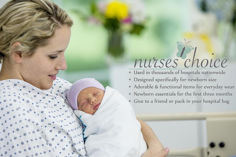 03c93967322 Amazon.com  Gender Neutral Newborn Baby Hospital Hat and Mitten Set by  Nurses Choice  Baby