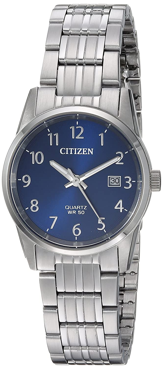 Amazon.com: Citizen Womens Quartz Stainless Steel Casual Watch, Color:Silver-Toned (Model: EU6000-57L): Watches