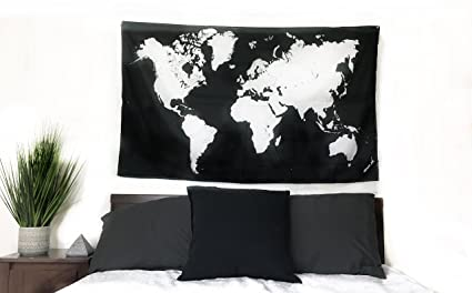 New world map tapestry modern wall hanging tapestry minimalist new world map tapestry modern wall hanging tapestry minimalist whiteblack large gumiabroncs Images