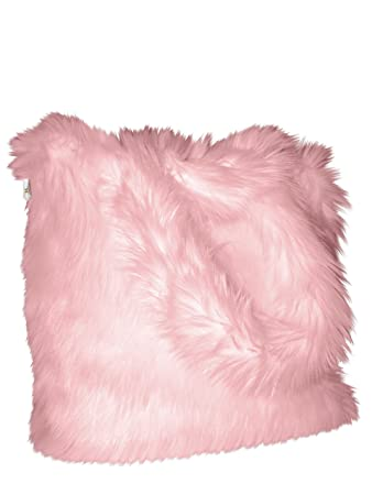 0e171eb646f CHC-Beverly Hills Luxurious Signature Fluffy Fur Weekender Bag Baby-Pink Large  Overnight Duffel