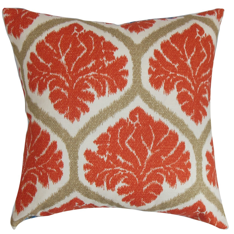 The Pillow Collection Priya Floral Bedding Sham Russett Standard//20 x 26