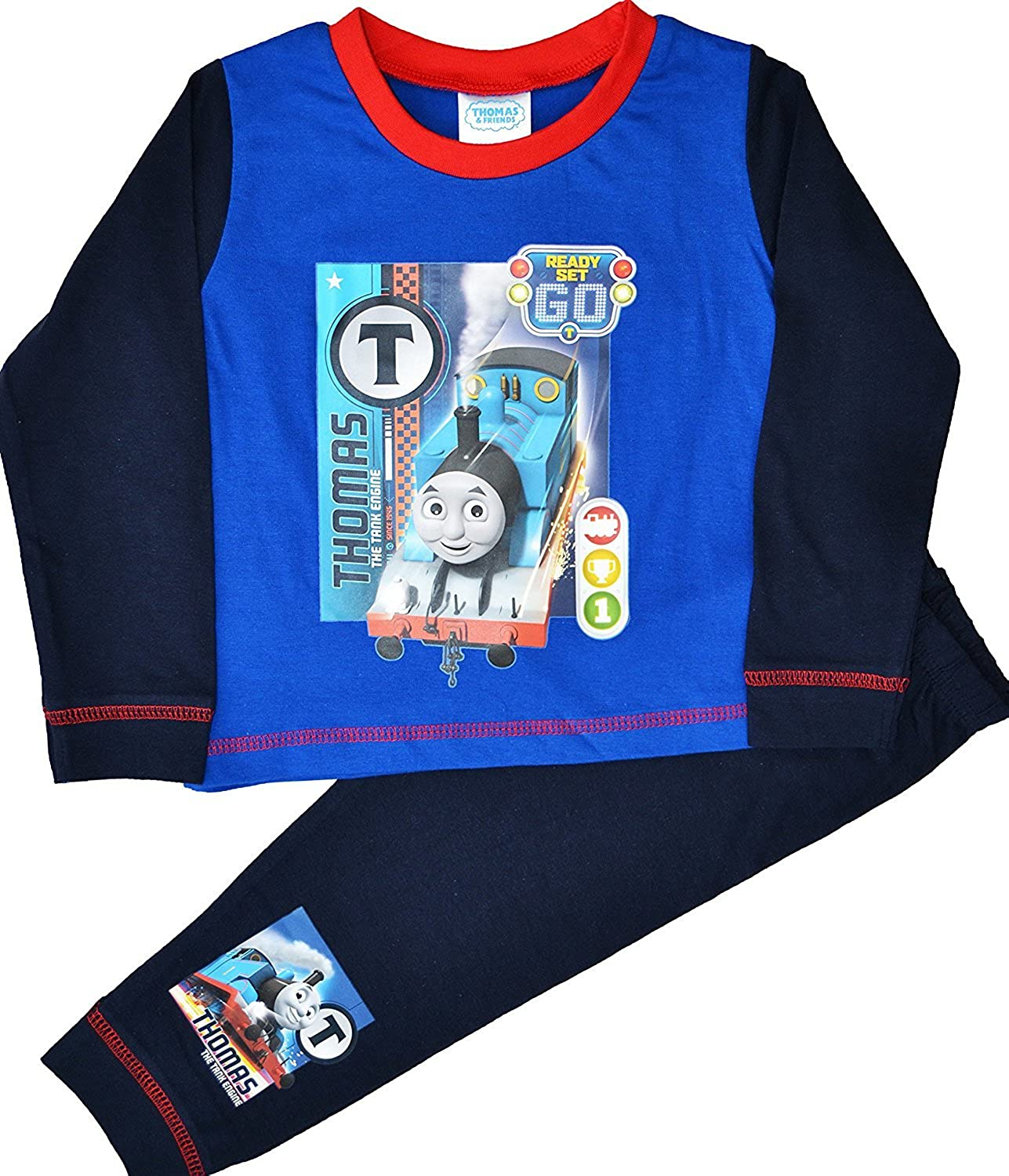THOMAS THE TANK ENGINE LONG SLEEVE PYJAMAS/PJS 2-3YRS - New