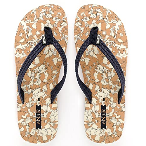 00dda448d7b8a eNaR Women s Cream Color Flip-Flops and House Slippers  Buy Online at Low  Prices in India - Amazon.in