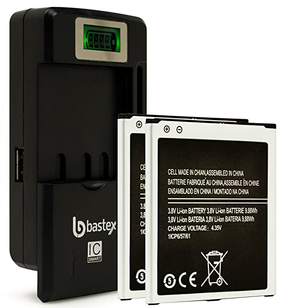 Dos (2pk) Bastex batería de repuesto para Samsung Galaxy ...
