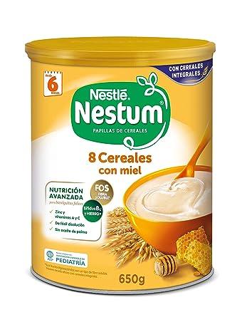 Nestlé Papillas NESTUM Cereales para bebé con miel - 3 latas de 650g -Total 1950g