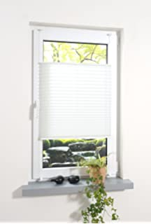 Cool Liedeco® Plissee verspannt mit Klemmträger / 100 x 130 cm weiß  LD27