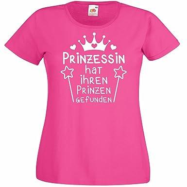 Shirtoo Damen T-Shirt Prinzessin Hat Ihren Prinzen Gefunden für Den  Junggesellenabschied (Frauen Braut)  Amazon.de  Bekleidung c923c9d95e