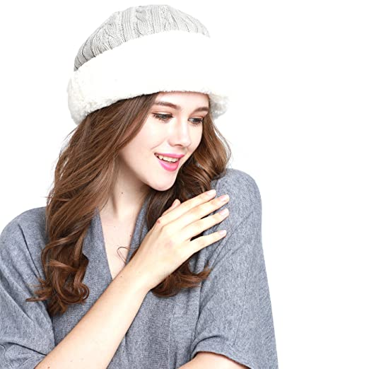CL2313 Faux Fur Trimmed Winter Fashion Hat (A GRAY) at Amazon ... d5ee925f2455