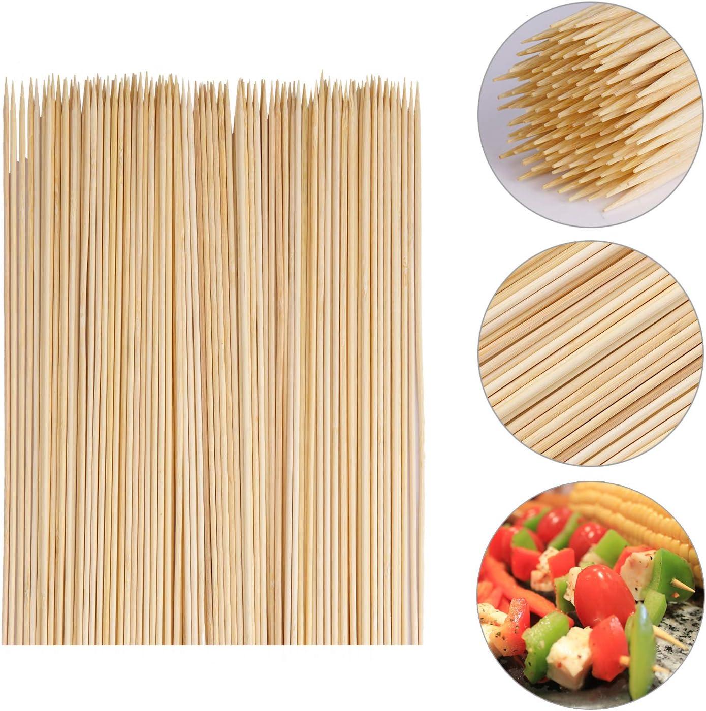 Spiedini di Legno di bamb/ù Naturale Grigliate CJMING 100PCS Spiedini di bamb/ù per Barbecue Bastoncini di Cottura Perfetti Frutta