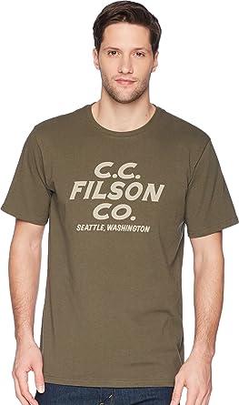 e566b7e9b Filson Men's Short Sleeve Outfitter Graphic T-Shirt Otter Green (Sawdust  Savage) X