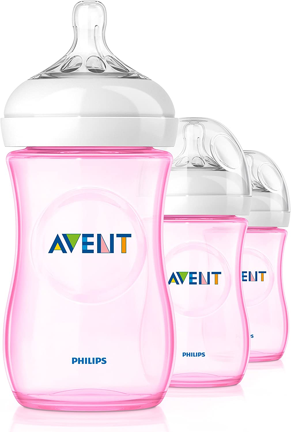 Philips Avent SCF694/17 - Biberón, tetina suave y flexible, anticólicos, PP 0% BPA, 260 ml, color rosa: Amazon.es: Bebé