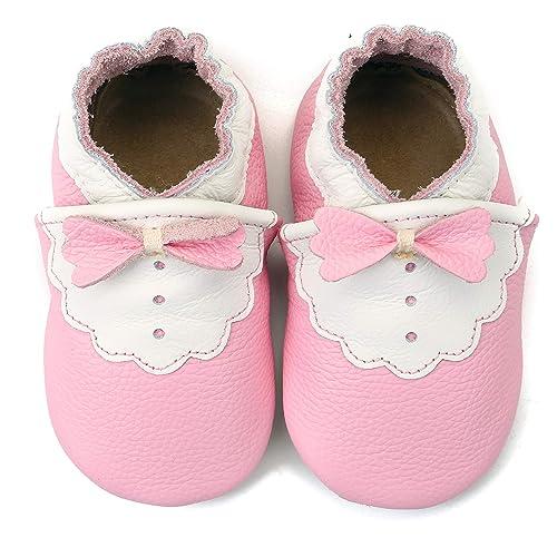 on sale 17dd5 f45a6 COSMOZ Scarpine in Pelle Prima Infanzia | Baby Scarpe in ...