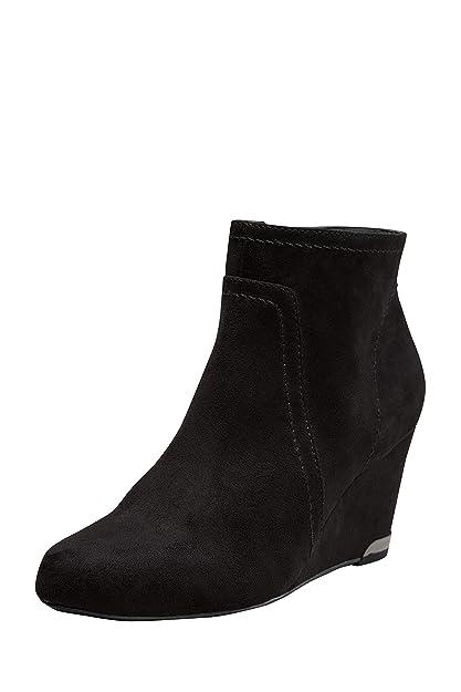 next Mujer Botines De Vestir Cuña EU 43 Ancho Negro: Amazon.es: Zapatos y complementos