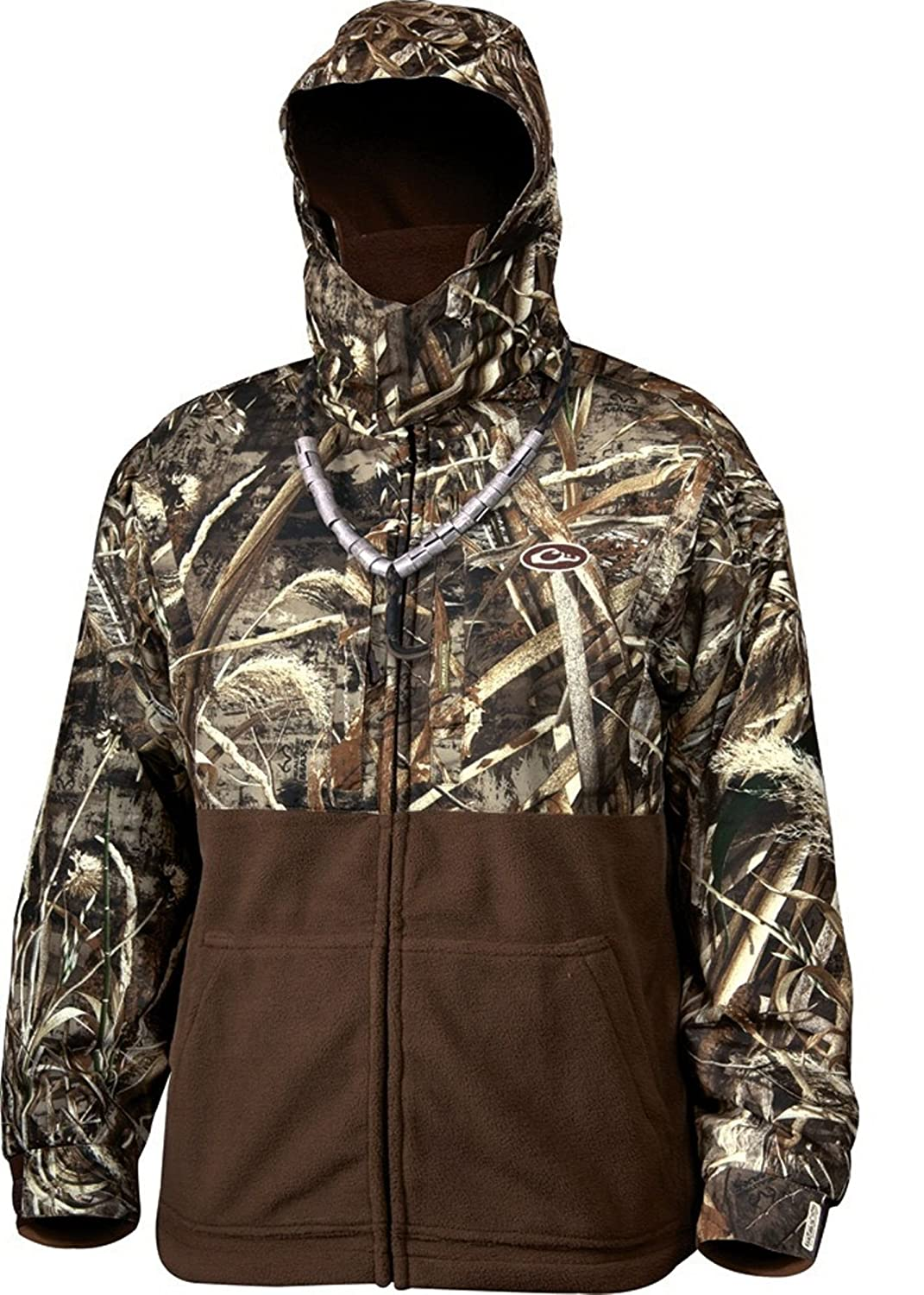0d45ea519c Amazon.com  Drake MST Eqwader Deluxe Full Zip Hunting Jacket (Realtree  Max-5) (Men s XL)  Sports   Outdoors