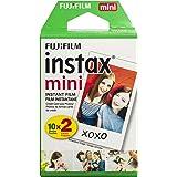 Fujifilm INSTAX Mini Instant Film Twin Pack, White (20 Exposures)