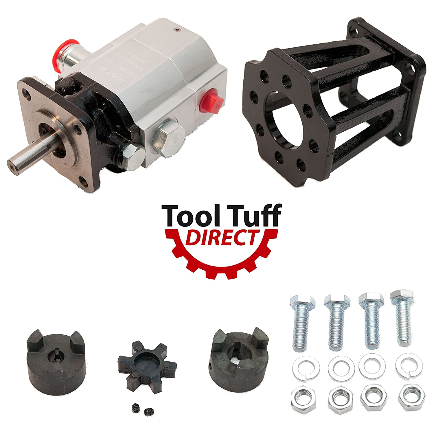 Tool-Tuff Log Splitter Build Kit: 13 GPM Pump, Coupler, Mount, Bolts, For Huskee, Speeco, etc or DIY Splitter Project (For 3/4 Engine Crankshaft) Tool Tuff Direct