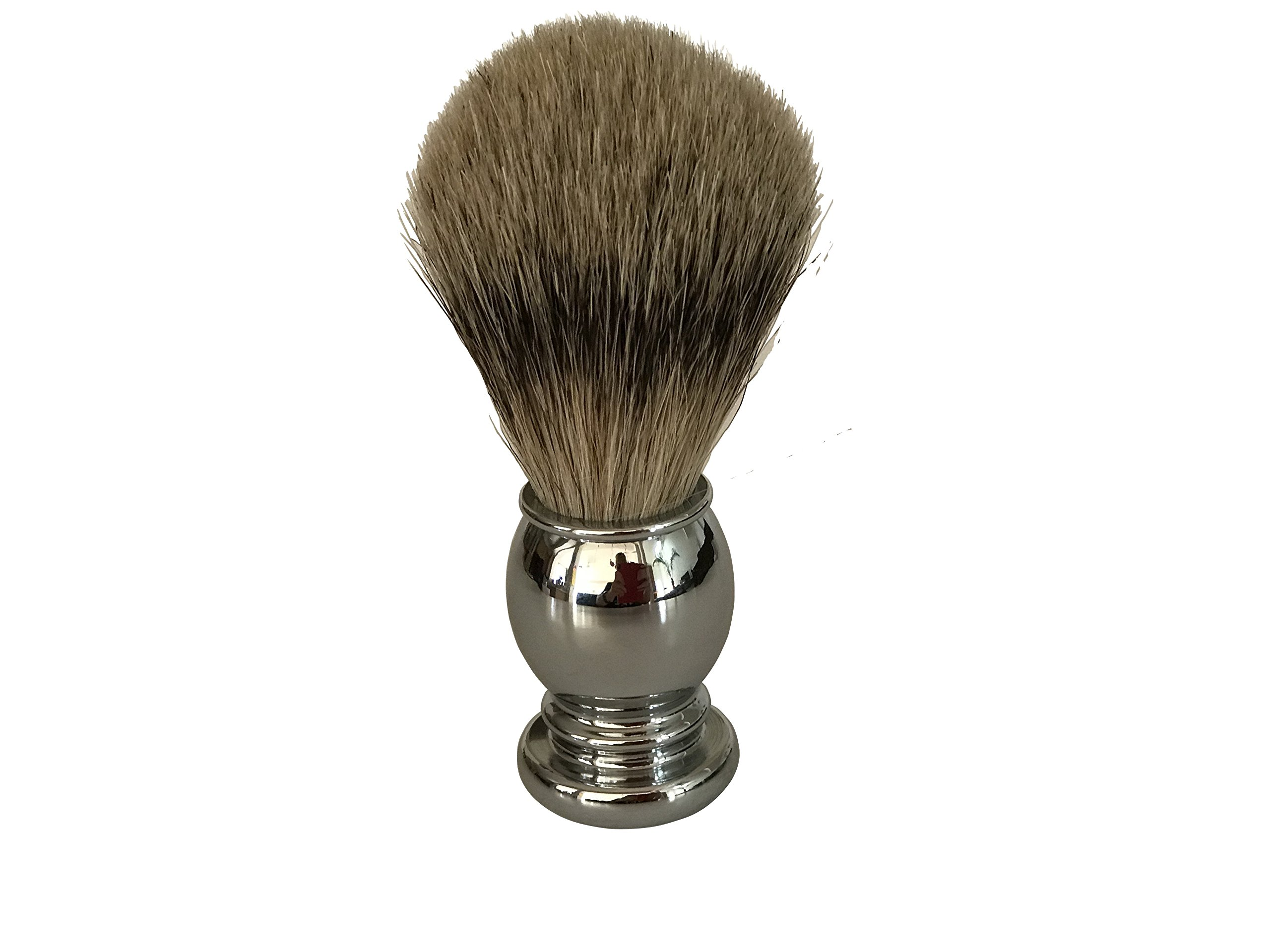 Shaving Brush By Apollo, 100% Best Silvertip Badger Bristle with Chrome Handle Will Fit the Apollo Stand and Is a Great Addition to Your Vet Shaving Set/kit. Works up a Great Lather From Your Soap/ Cream/ Butter to Ensure a Great Shave with Your Double Ed