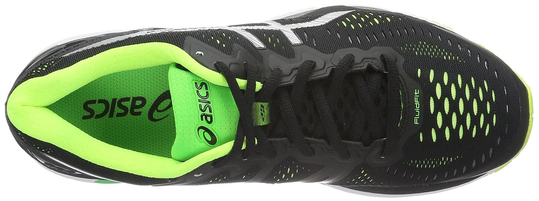 Asics Gel kayano 23, Zapatillas De Running Para Hombre, (blacksilversafety Yellow), 42 Eu