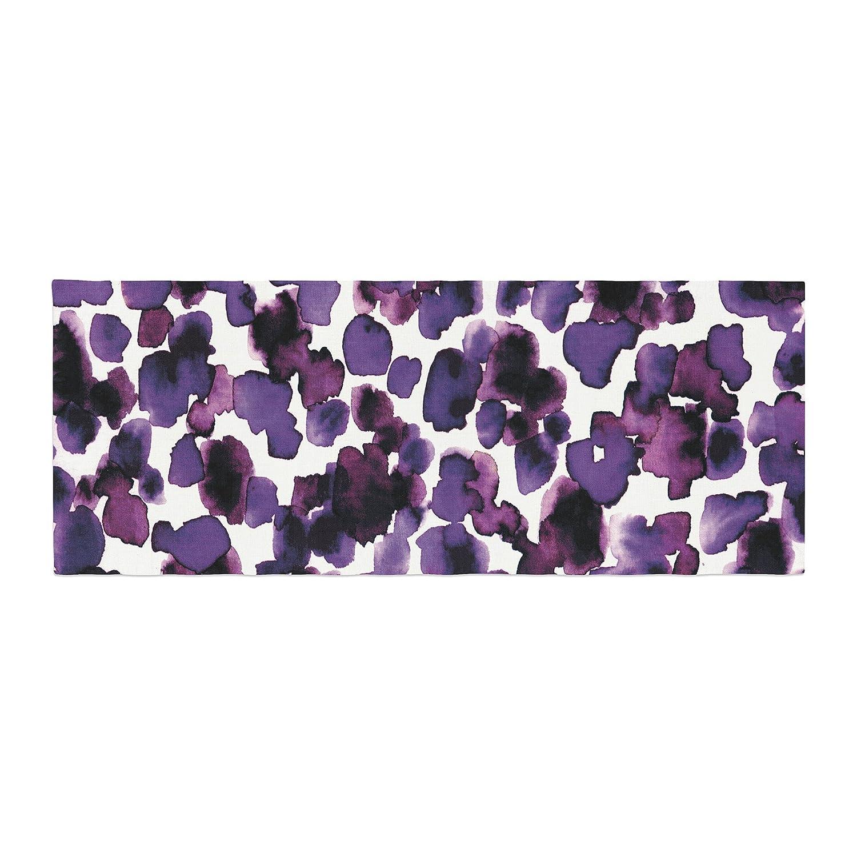 Kess InHouse EBI Emporium Giraffe Spots Purple Lavender Bed Runner JD1073DBR01