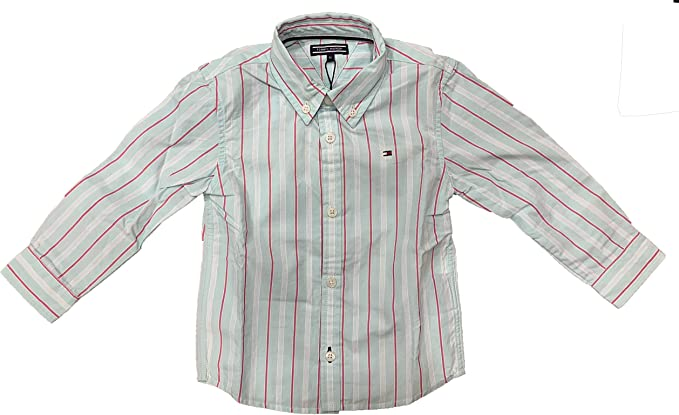 Tommy Hilfiger - Camisa, niños, Color- Verde Agua, Talla- 18M ...