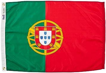 ANNIN & COMPANY Annin Flagmakers 196846 Nylon SolarGuard nyl-GLO Bandera de Portugal, 2